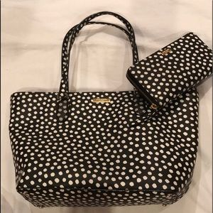 Kate Spade Musical Dots tote and wallet combo